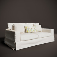 PB COMFORT SQUARE SLIPCOVERED SLEEPER SOFA