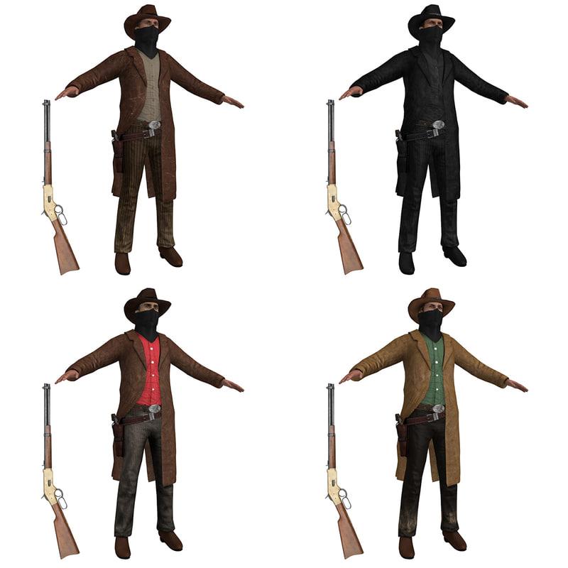 pack cowboy 3d max