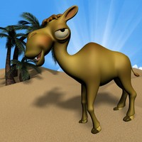 3d cartoon camel rigged