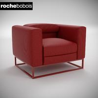 3d model armchair eclat roche bobois