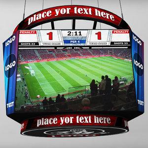 stadium baseball score board 3d model