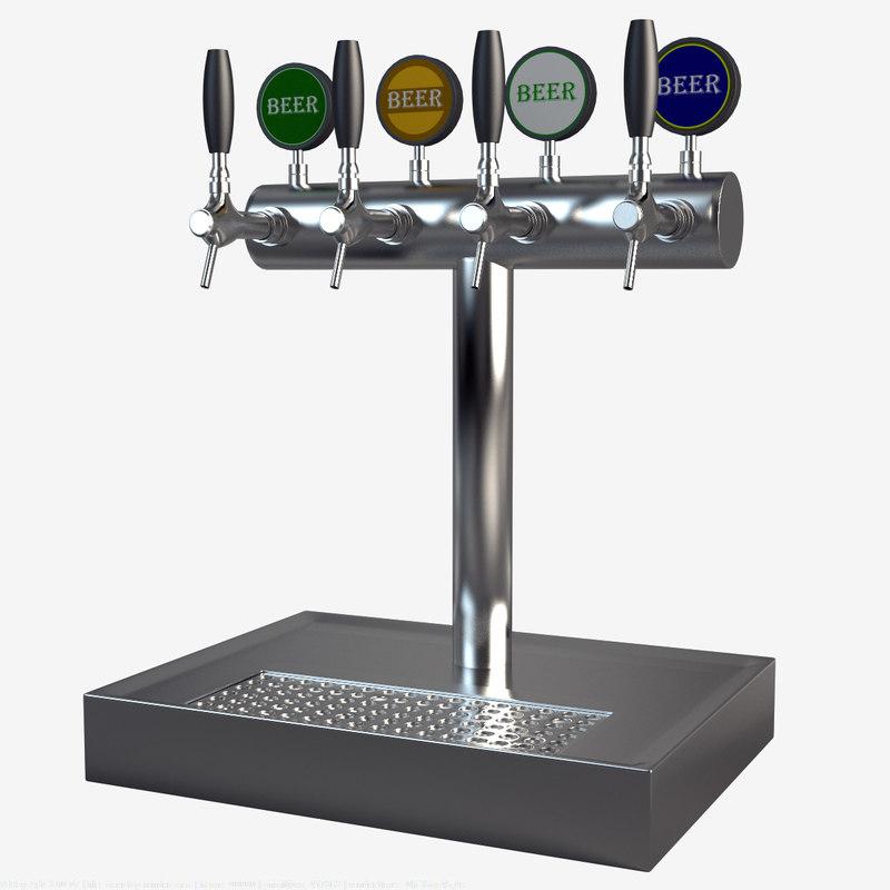 beer tap 3d max