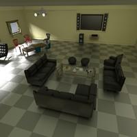 3d sitting area expert model