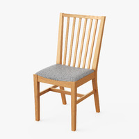 3d model realistic dining chair