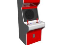 free arcade machine 3d model