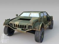 3d model gaucho vehicle military