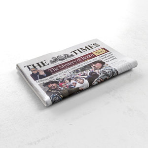 3d model newspaper folded news