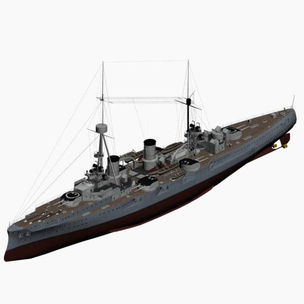 3dsmax armored cruiser bluecher imperial