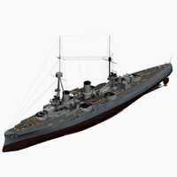 3dsmax armored cruiser bluecher imperial