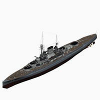 battlecruiser ersatz yorck class 3d model