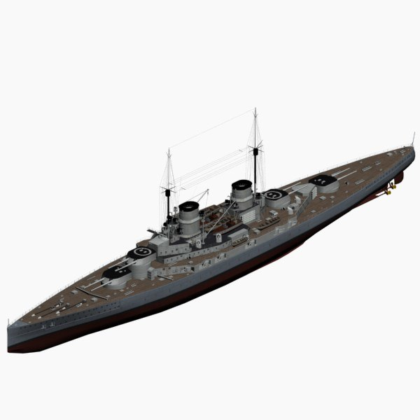 battlecruiser derfflinger class imperial 3d model