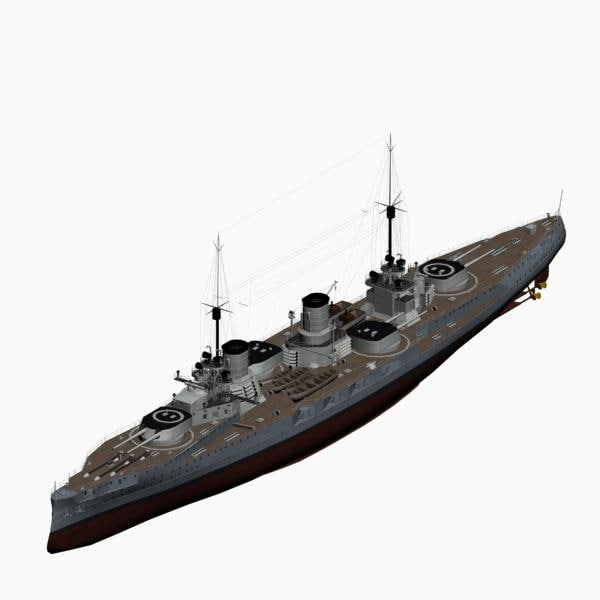 3d battlecruiser von der tann model