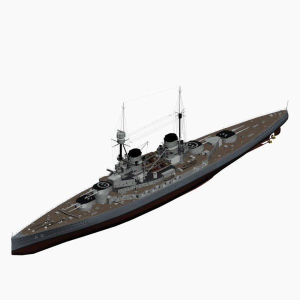3d model battlecruiser hindenburg imperial german