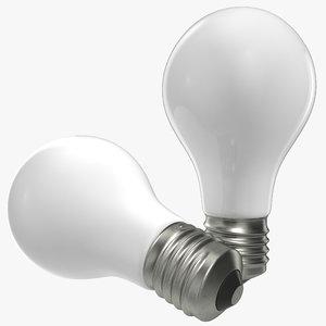 matte light bulb 3d c4d