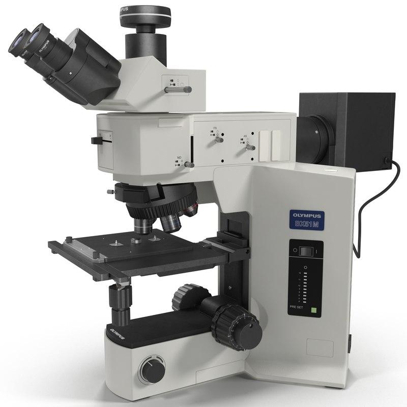 microscope olympus bx51m 3d model