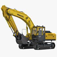 3d tracked excavator komatsu
