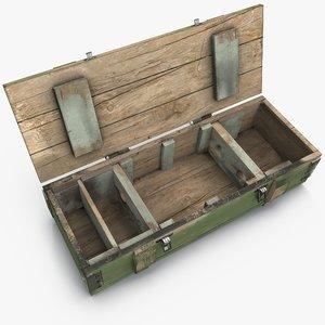 3d ammunition box model