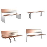 3d bench modern model