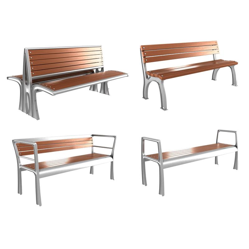3d bench modern