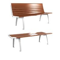 bench set 3d model