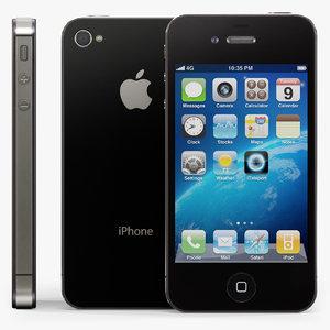 apple iphone 4s phone 3d model