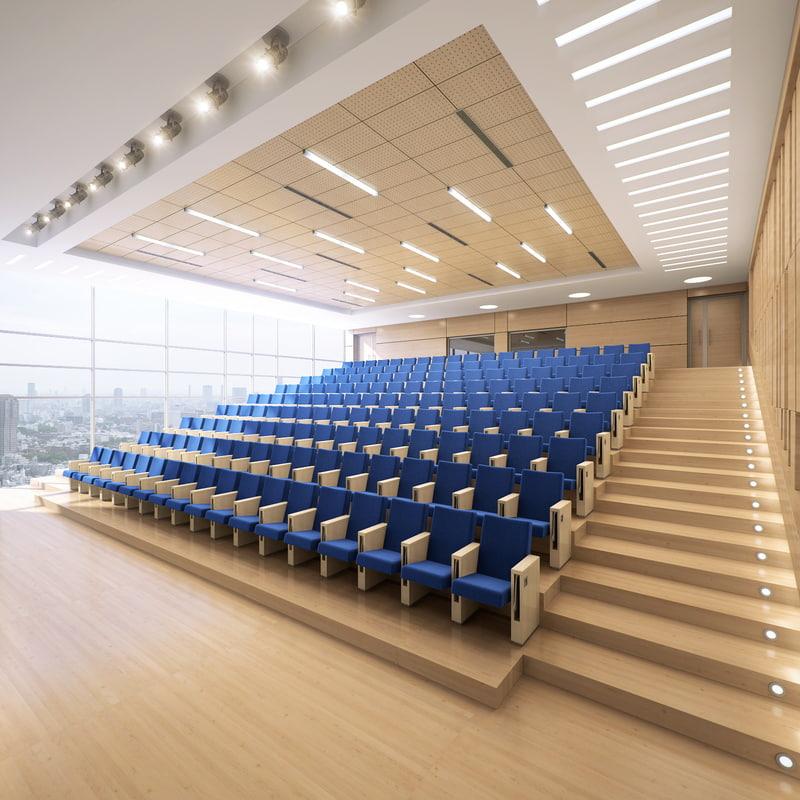 conference hall obj