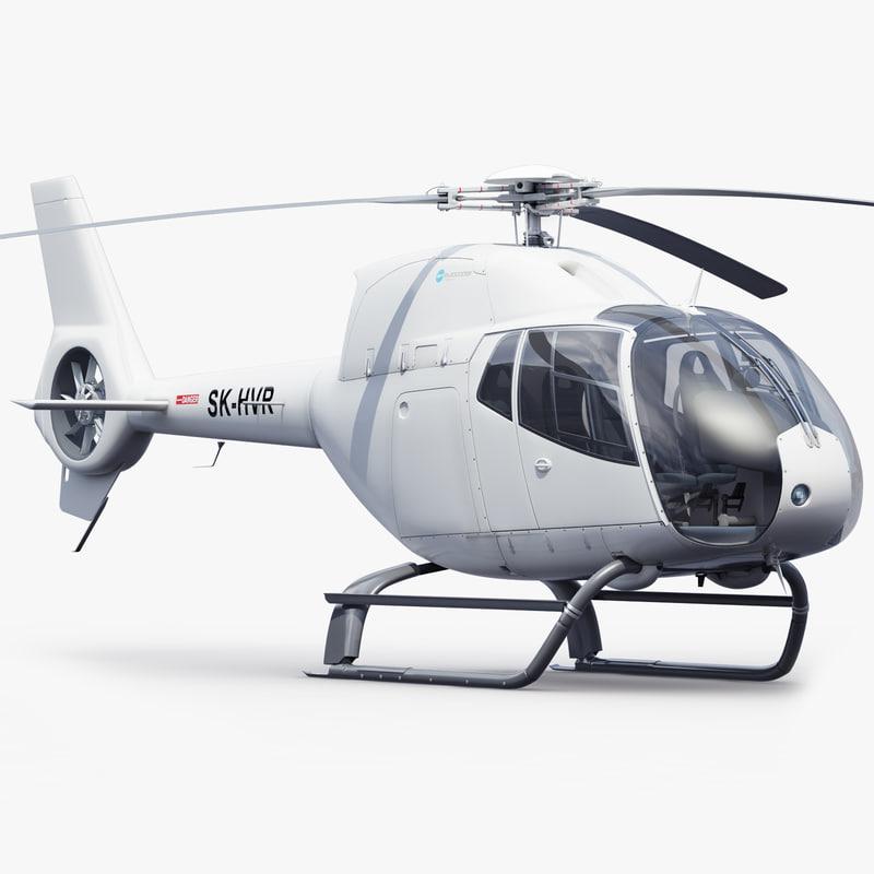 3d ec helicopter interior model