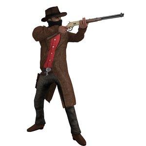 cowboy rigged 3 max