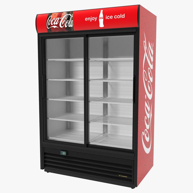 3d coca cola double door