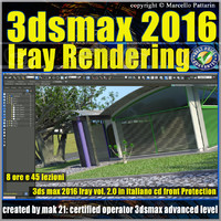 3ds max 2016 Iray Rendering vol.2 cd front