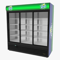 3ds max sprite door display refrigerator