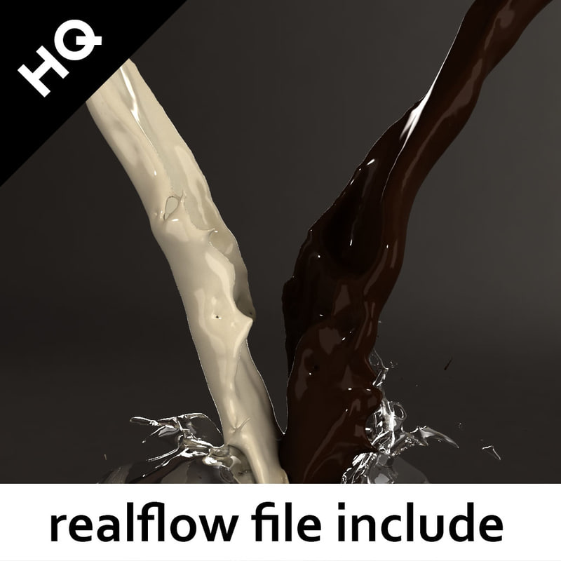 splash realflow flow 3d model