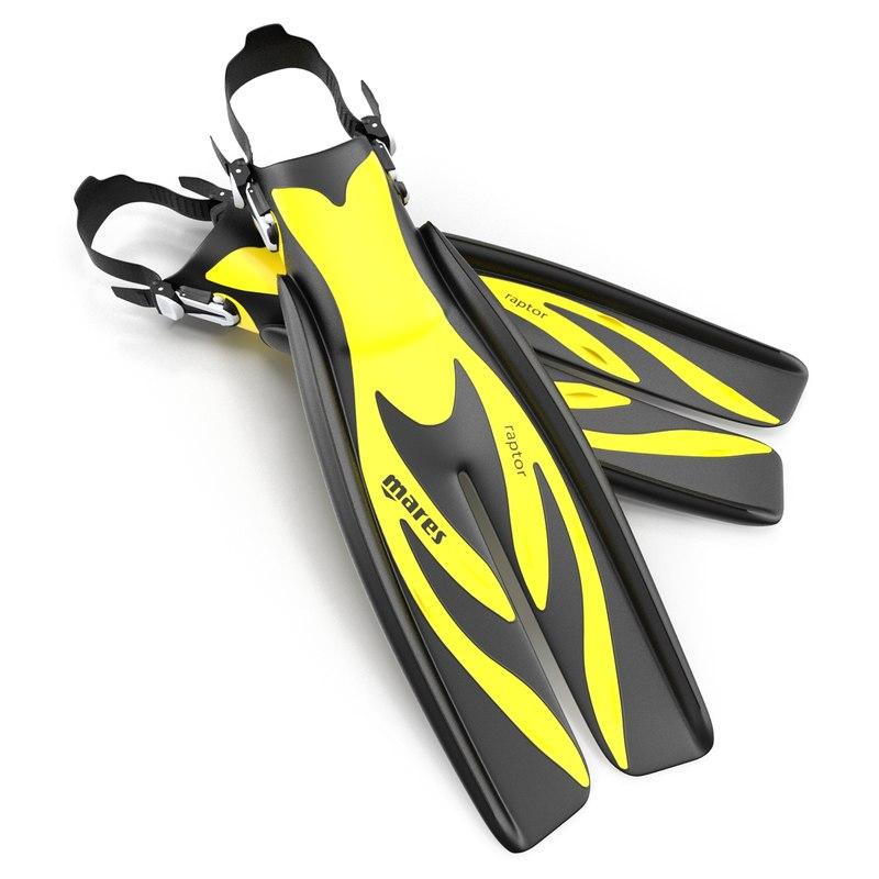 max swim fins 3 yellow