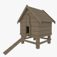 Chicken coop one textured
