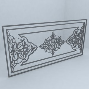 free pattern architecture 3d model