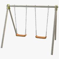 swing wood 3d model