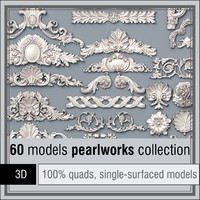 pearlworks 60 items 3d obj
