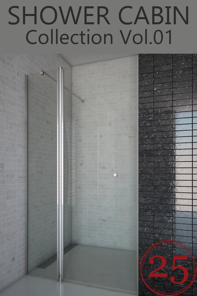 25 shower cabins 3d model