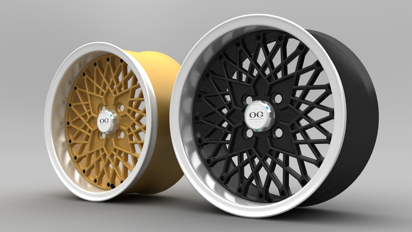 obj og wheels axis