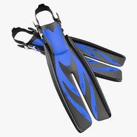 Swim Fins 3 Generic 3D Model