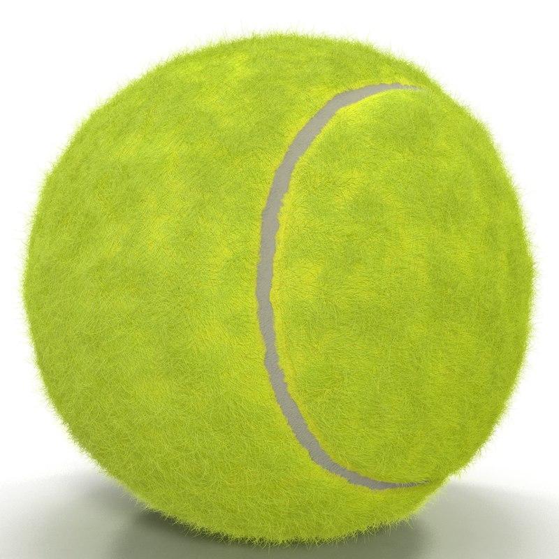 3d tennis ball fur model