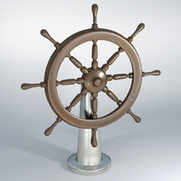 Ship wheel wooden timun