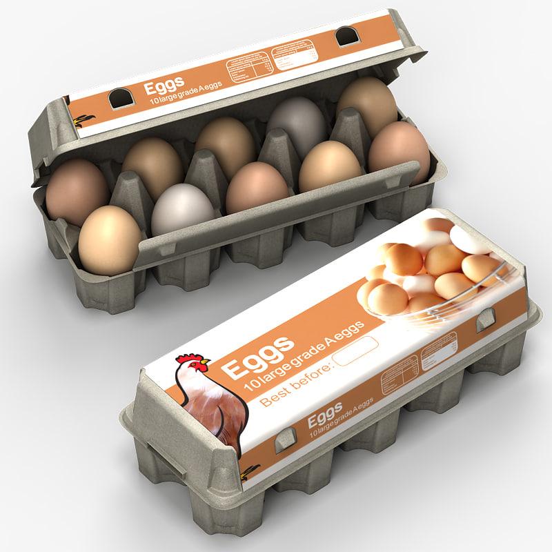 egg box 3d model
