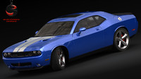 dodge challenger srt8 2009 3d model