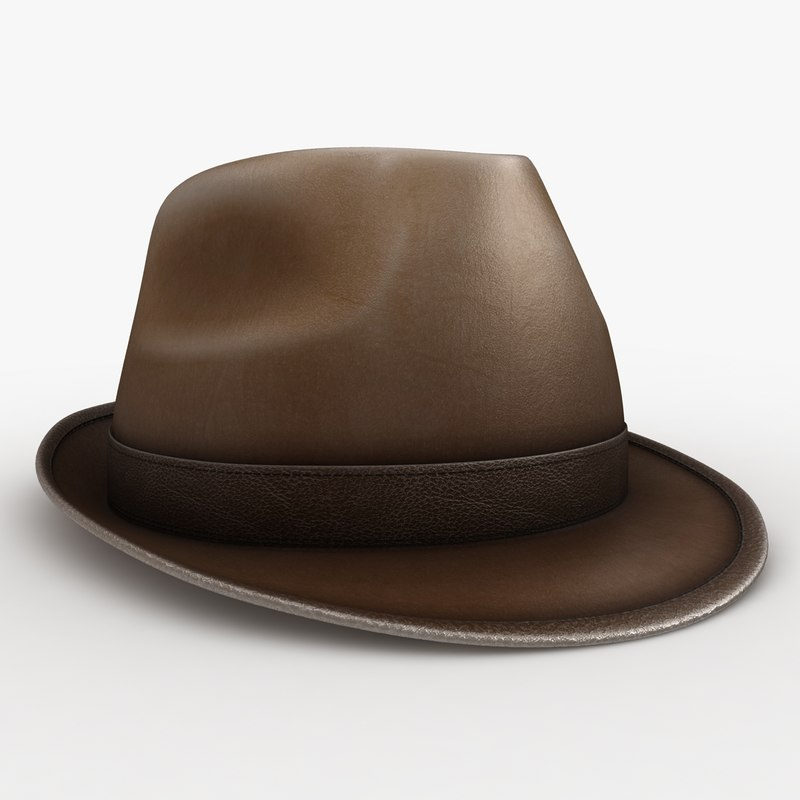 max fedora hat leather 2