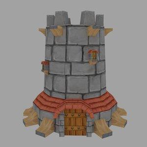 3d c4d tower
