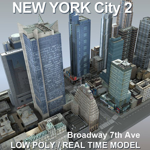 new york city broadway 3d max