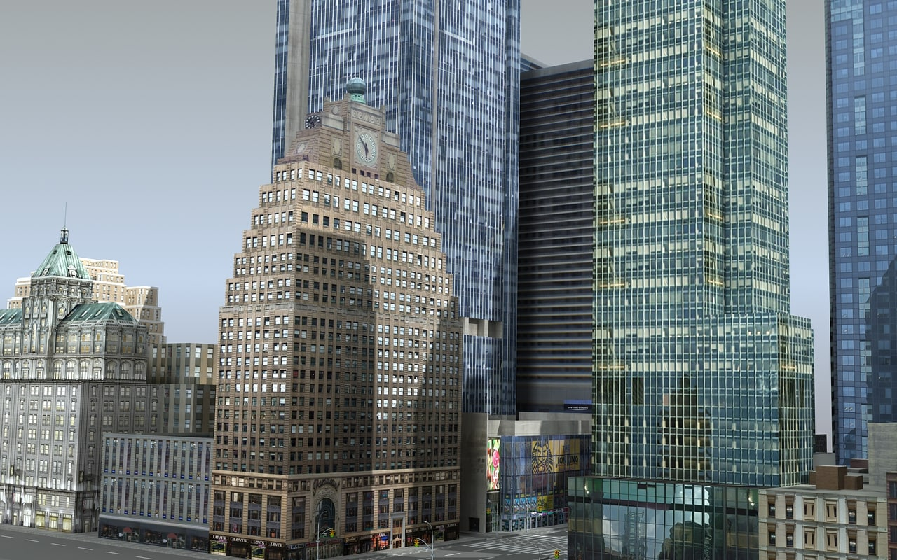 3d model of new york -2 square