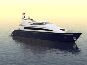 3d model luxury yacht