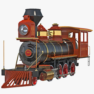 3ds max steam train locomotive